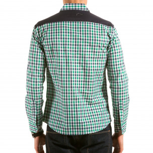 Мъжка зелено-синьо-бяла карирана риза Royal Kaporal 2
