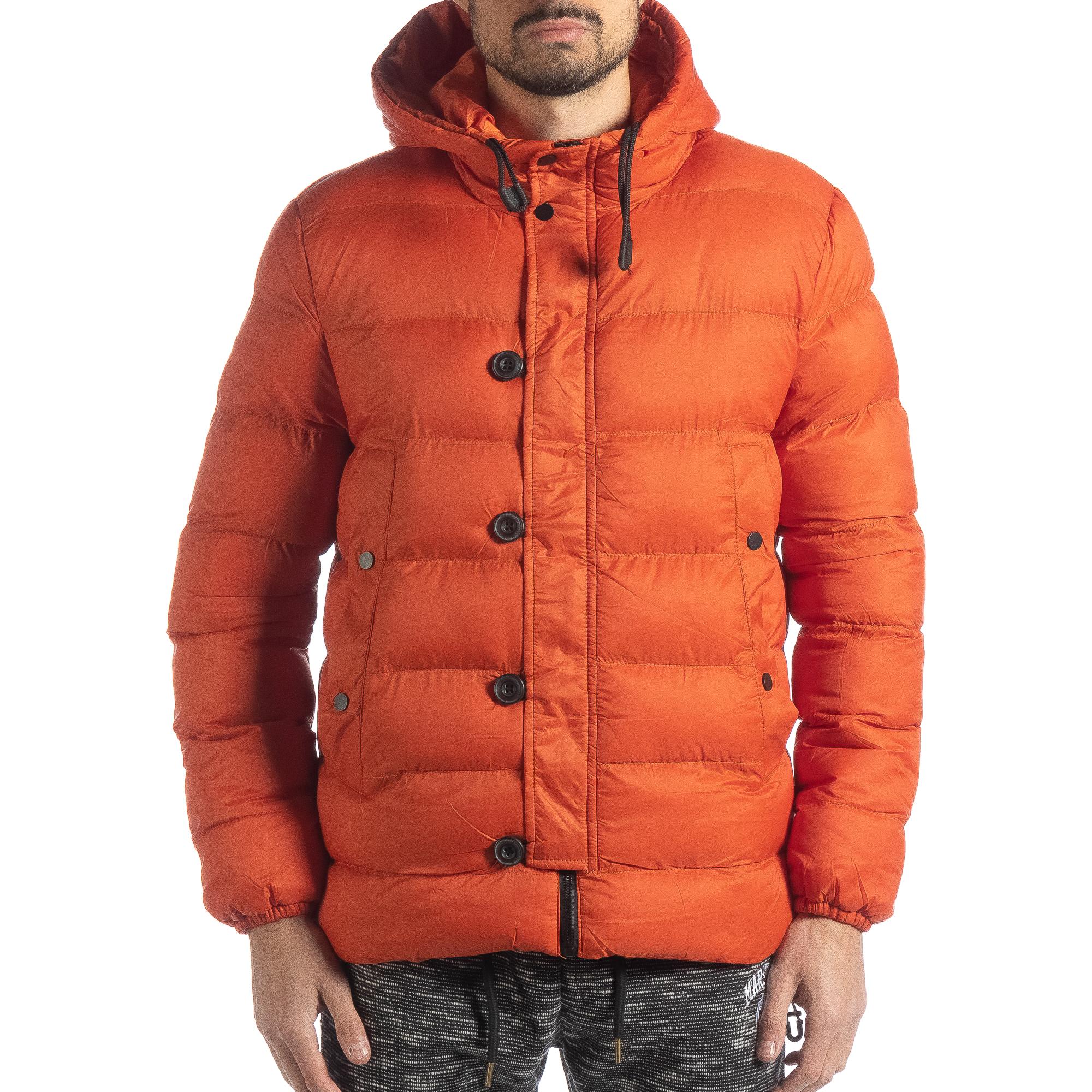 6b637254fac Ανδρικό πορτοκαλί χειμερινό μπουφάν