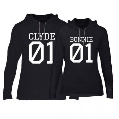 Суичъри за двойки Bonnie 01 & Clyde 01 в черно TMN-CPS-025 2