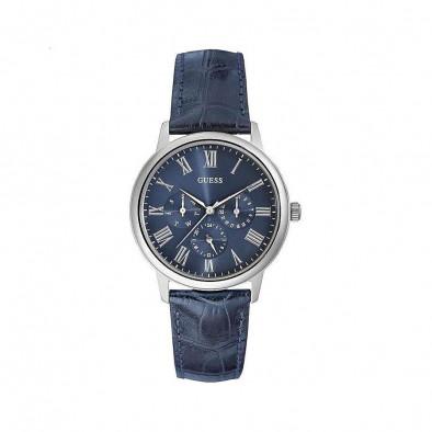 Мъжки часовник Guess със синя релефна каишка