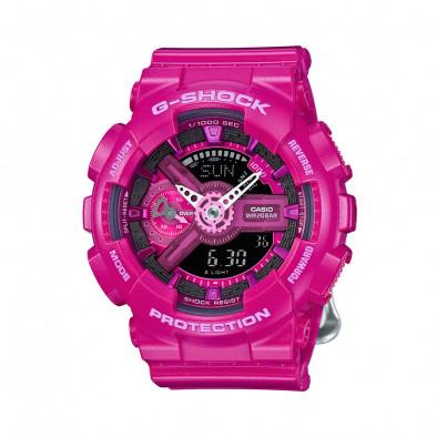 Мъжки спортен часовник Casio G-SHOCK розов с бели стрелки