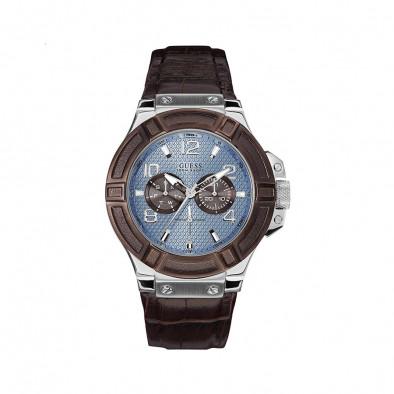 Мъжки часовник Guess  с допълнителен кафяв ринг на касата