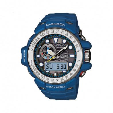 Мъжки спортен часовник Casio G-SHOCK син със сив ринг на циферблата