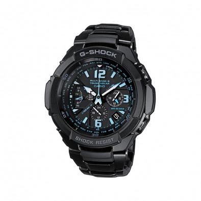 Мъжки спортен часовник Casio G-SHOCK черен със сини детайли в циферблата
