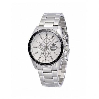 Мъжки часовник Casio Edifice сребрист браслет с фосфориращи индекси
