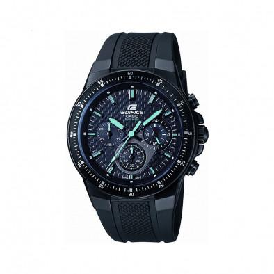 Мъжки часовник Casio Edifice с каучукова каишка в черно