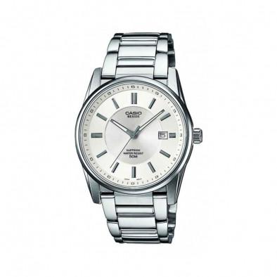 Мъжки часовник Casio Beside сребрист браслет с автоматична дата