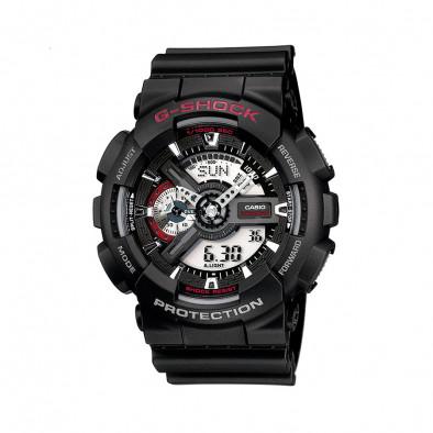 Мъжки спортен часовник Casio G-SHOCK черен с червен надпис
