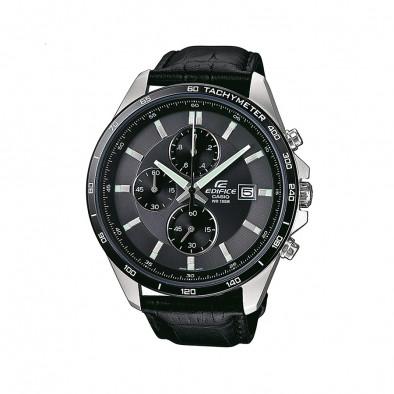 Мъжки часовник Casio Edifice черен с показване на дата