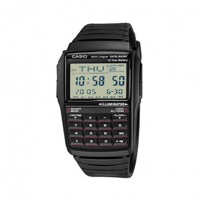 Мъжки часовник Casio Collection черен с дигитален калкулатор