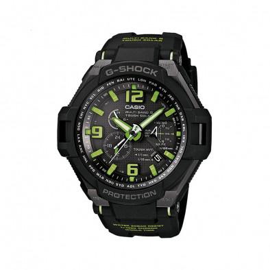 Мъжки спортен часовник Casio G-SHOCK черен с неоново зелени детайли
