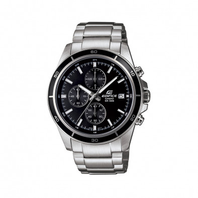Мъжки часовник Casio Edifice сребрист браслет с завиващ се заден капак