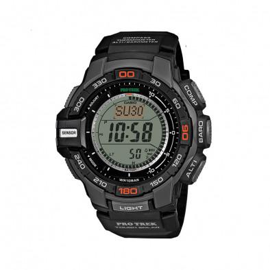 Мъжки часовник Casio Pro Trek черен със соларен механизъм