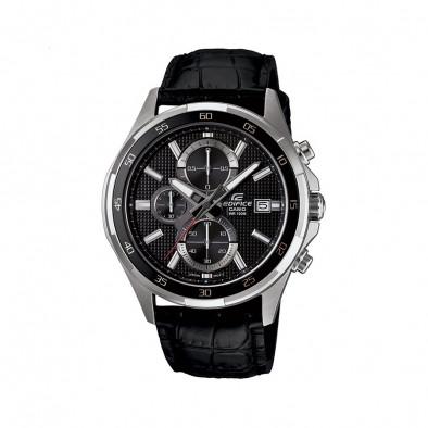 Мъжки часовник Casio Edifice с черна каишка и черен дисплей