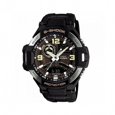 Мъжки спортен часовник Casio G-SHOCK черен с неонови цифри