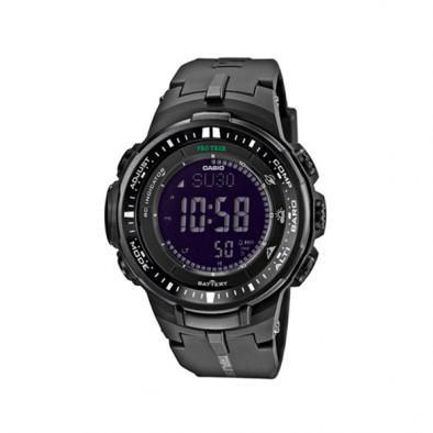Мъжки часовник Casio Pro Trek черен с автоматичен илюминатор