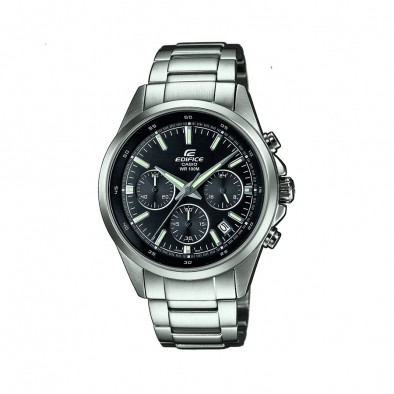 Мъжки часовник Casio Edifice сребрист браслет с показване на дата