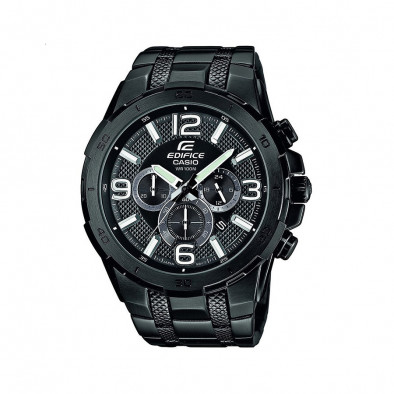 Мъжки часовник Casio Edifice черен браслет със светло зелени стрелки
