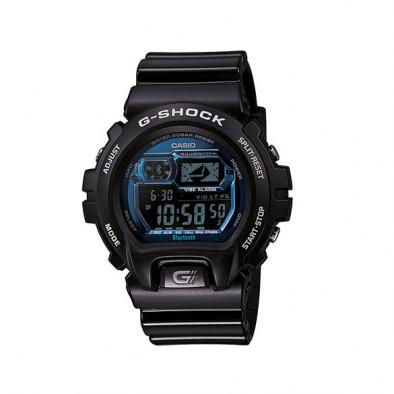 Мъжки спортен часовник Casio G-SHOCK черен със сини детайли по дисплея