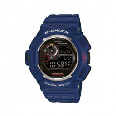 Мъжки спортен часовник Casio G-SHOCK син с черен дисплей