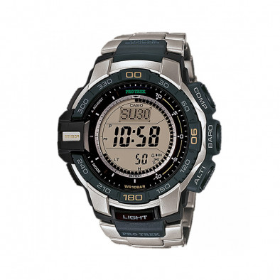 Мъжки часовник Casio Pro Trek сребристо-черен
