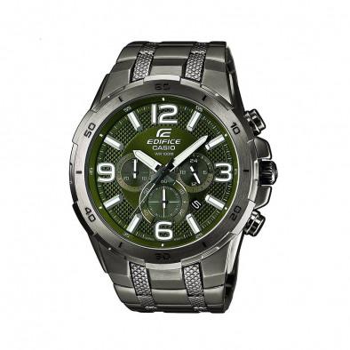 Мъжки часовник Casio Edifice зелен браслет със зелен циферблат