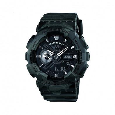 Мъжки спортен часовник Casio G-SHOCK черен камуфлаж