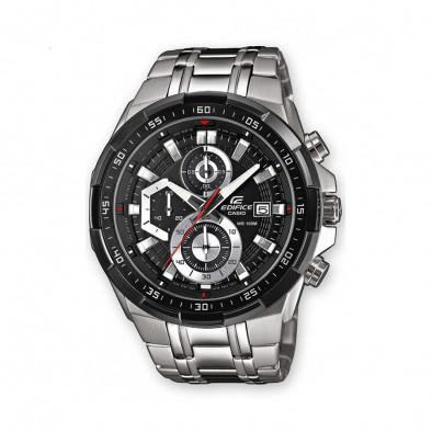 Мъжки часовник Casio Edifice сребрист браслет с метални стрелки