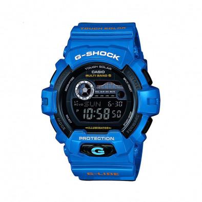 Мъжки спортен часовник Casio G-SHOCK  син с бял надпис