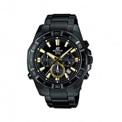 Мъжки часовник Casio Edifice с черен циферблат и черна каишка