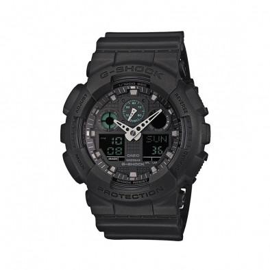 Мъжки спортен часовник Casio G-SHOCK черен с контрастни стрелки