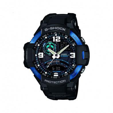 Мъжки спортен часовник Casio G-SHOCK черен с бели цифри