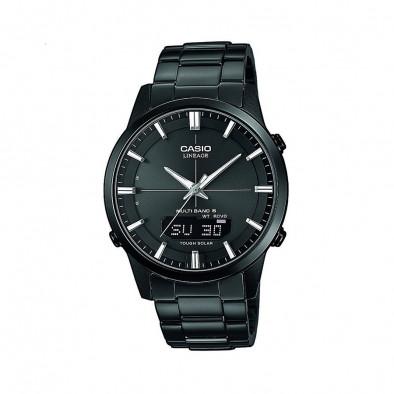 Мъжки часовник Casio Lineage черен с LED осветление на дисплея