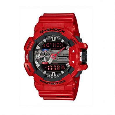 Мъжки спортен часовник Casio G-SHOCK червен със сиви детайли