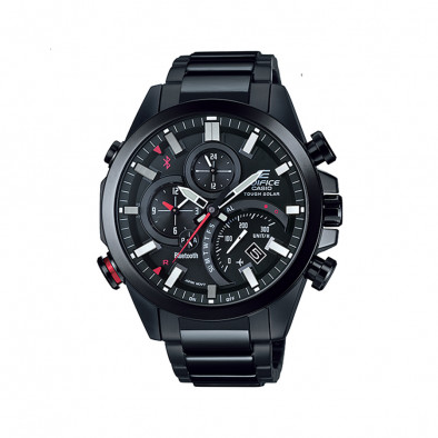 Мъжки часовник Casio Edifice черен браслет с Bluetooth