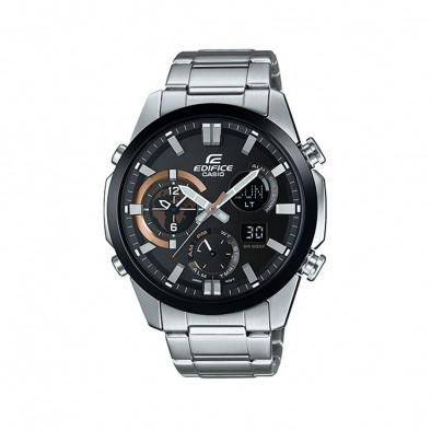 Мъжки часовник Casio Edifice сребрист браслет с термометър