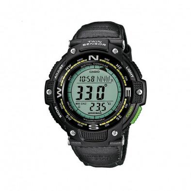 Мъжки часовник Casio Outdoor черен със зелен дисплей