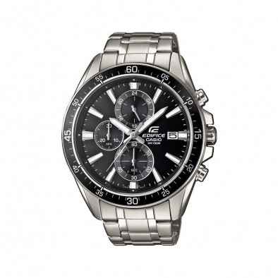 Мъжки часовник Casio Edifice сребрист браслет с черна каса