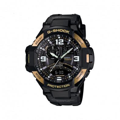 Мъжки спортен часовник Casio G-SHOCK черен със златисти означения на бутоните