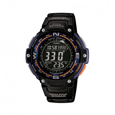 Мъжки часовник Casio Outdoor черен с оранжеви и лилави детайли