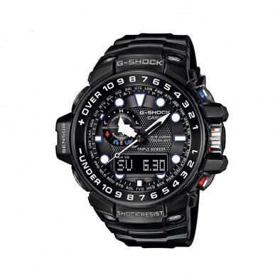 Мъжки спортен часовник Casio G-SHOCK черен с цветни детайли на бутоните