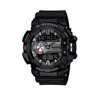 Мъжки спортен часовник Casio G-SHOCK черен със сив дисплей