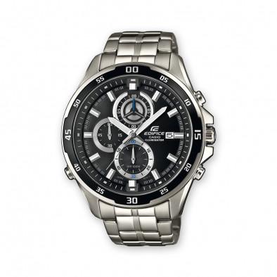 Мъжки часовник Casio Edifice сребрист браслет със супер илюминатор