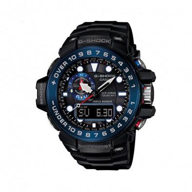 Мъжки спортен часовник Casio G-SHOCK черен със син ринг