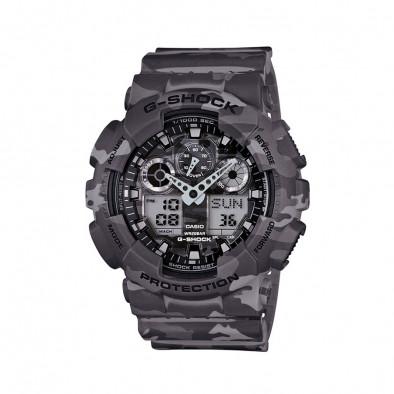 Мъжки спортен часовник Casio G-SHOCK светло сив камуфлаж