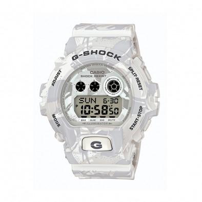Мъжки спортен часовник Casio G-SHOCK бял камуфлаж