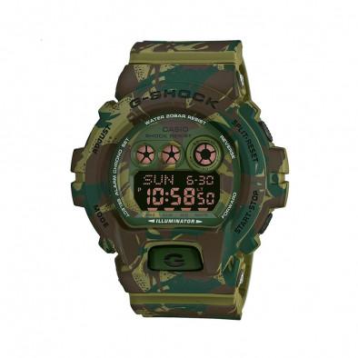 Мъжки спортен часовник Casio G-SHOCK зелен камуфлаж
