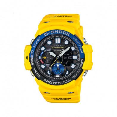 Мъжки спортен часовник Casio G-SHOCK жълт с дигитален компас