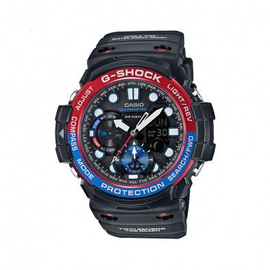 Мъжки спортен часовник Casio G-SHOCK черен с двуцветен ринг на циферблата