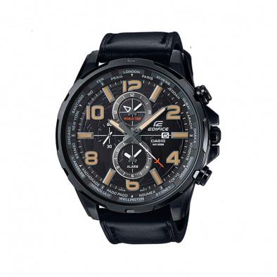 Мъжки часовник Casio Edifice черен с бежови цифри
